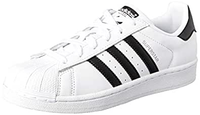 adidas Women's Superstar Trainers, Footwear White/Core Black/Soft Vision, 5 US