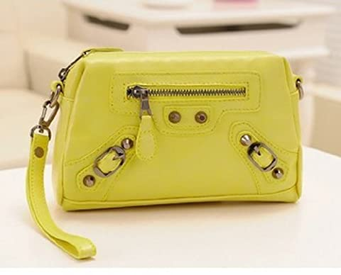 Big Mango Super Quality Multi-purpose Big Fashion Spikes Design Cellphone Leather Bag and Clutch Purse for Apple Iphone 4 4s Iphone 5 Samsung Galaxy Note2 Galaxy S4 S3 with Wristlet and Detachable Long Shoulder Strap (Iphone 5 Cases Spike)