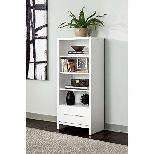 ClosetMaid 1651 Media Storage Tower Bookcase with Drawer, White (Closet Maid Black Drawer)