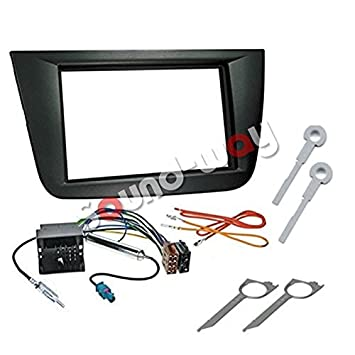 Kit montaje radio marco embellecedor de radio 2 DIN Seat Altea/Altea Xl/Toledo negro