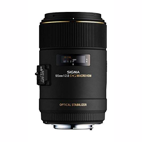 Sigma 105mm F2.8 EX DG OS HSM Macro Lens for Canon SLR Camera – International Version (No Warranty)