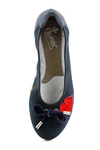 Bailarinas Mujer para Lona de 122 Rieker RK1 Samples Azul Azul 7CwxZtwq0