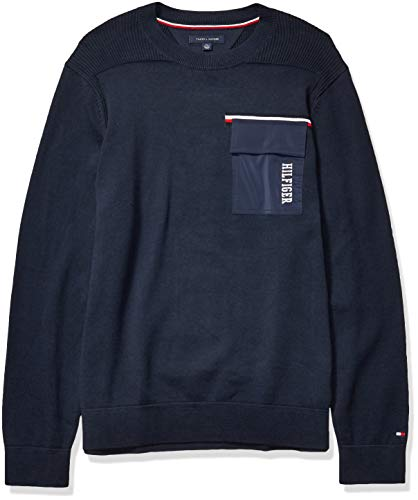 Tommy Hilfiger Men's Crew Neck Sweater with Pocket
