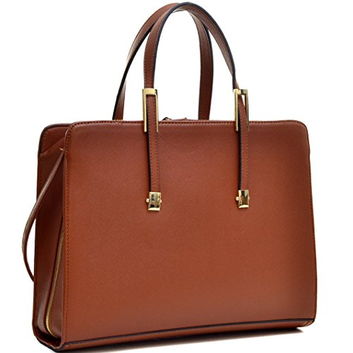 ad413facba002 Dasein Classic Faux Leather Satchel Briefcase Handbag