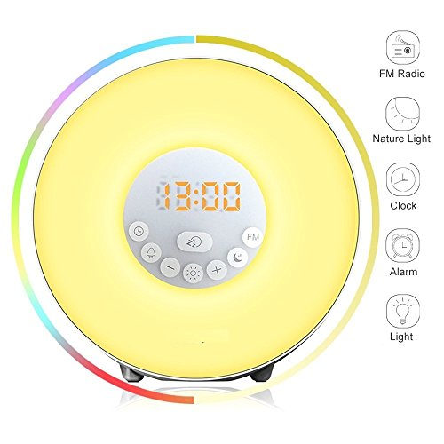 Wake Up Light Alarm Clock - Sunrise Simulator With