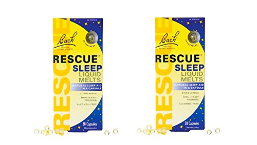 Bach Rescue Sleep Natural Sleep Remedy Liquid Melts Natural Sleeping Aid - 28 Capsules (2 Pack (28 Capsules))