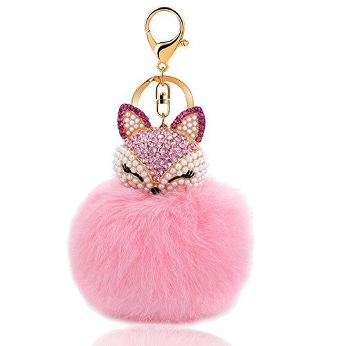 (Cute Fox Handbag Key Chain for Women Bag Purse Charms)