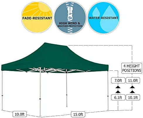 Vispronet 10×15 Steel Canopy Tent with Walls