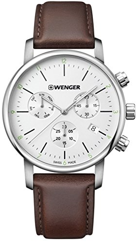 Watch WENGER 01.1743.101 Men Silver Chrono