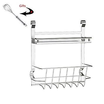 ... Multifuncional Puede Colgar Cosas Almacenamiento de Acero Estante Colgando de Utensilios de Cocina WXP-armarios y armarios Cubiertos: Amazon.es: Hogar