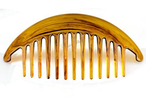 2Stk XL Steckkamm in havanna 14cm lang 7 cm breit - Made in Germany -WeLoveBeads