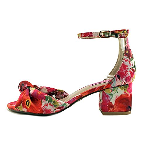 (Betsey Johnson Womens Ivee Open Toe Casual Ankle Strap Sandals, Floral, Size 7.0)