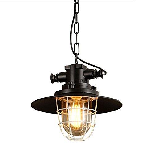 Industrial Pendant Light, MKLOT Ecopower Minimalist Retro Vintage Barn Loft Iron Mesh Wire Lighting Glass 11.81