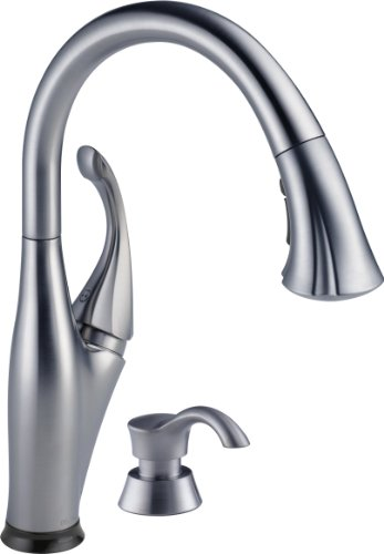 Delta 9192T-ARSD-DST Addison Single-Handle Pull-Down Touch Kitchen Faucet with Touch2O Technology, Magnetic Docking Spray Head and Soap Dispenser, Arctic Stainless