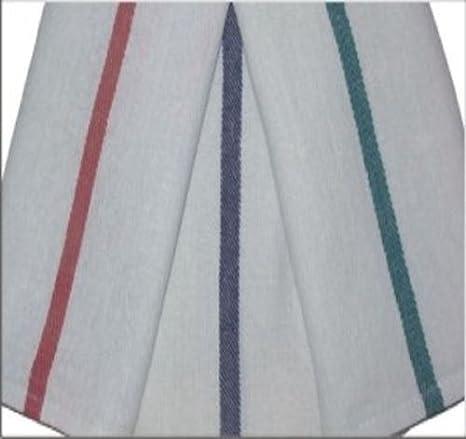 24 15 x 24 peluquería toallas de cocina de espiga azul rayas secado rápido en vaso: Amazon.es: Hogar