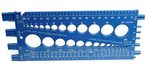 Screw Gauge Bolt Nut Screw Thread Measuring Gauge Checker Standard /& Metric