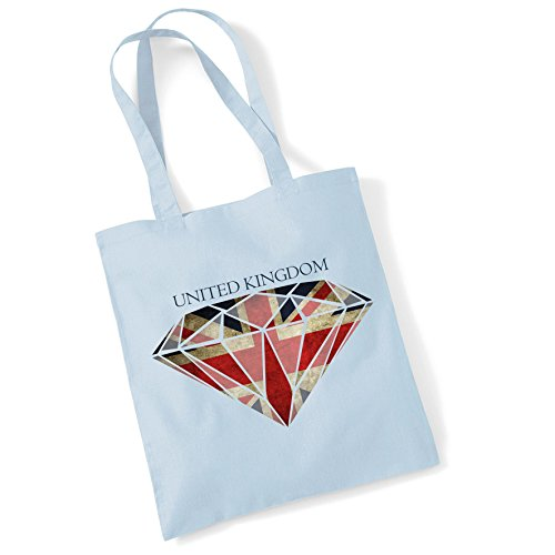 Shopper Bag Women Cotton Flag For Jack Printed Union Diamond Tote Pblue Bags Gifts 1wSB6qz