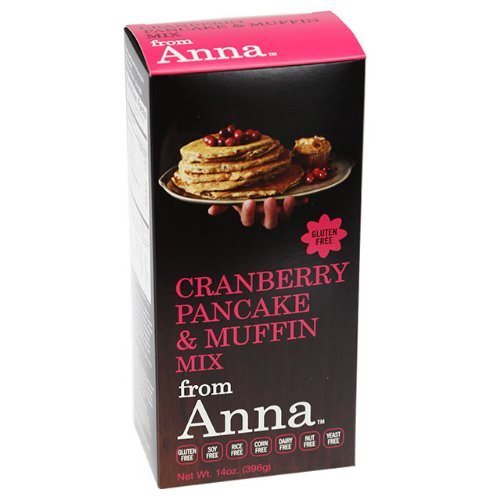 Cranberry Pancake and Muffin Mix, Breads from Anna, Gluten yeast soy rice corn dairy and nut free, 14 (Fat Free Muffins)