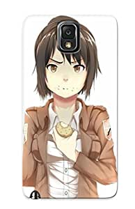 Special Eatcooment Skin Case Cover For Galaxy Note 3, Popular Sasha Blouse Attack On Titan Phone Case For New Year's Day's Gift