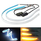 Best Daytime Running Led Strips - Xinfok 30cm New Slim Amber Sequential Flexible LED Review