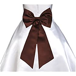 Wedding Satin Tiebow Bow Tie Sash Bridal Flower Special Occasion Decoration Pageant
