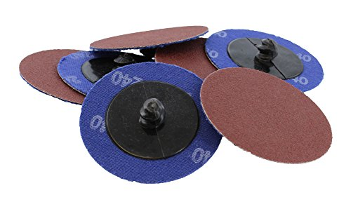 "(ABN Aluminum Oxide Roloc Abrasive Sanding Discs 50-Pack, 2"" Inch, 240 Grit – Metal Wheels for Surface Prep and Finishing)"