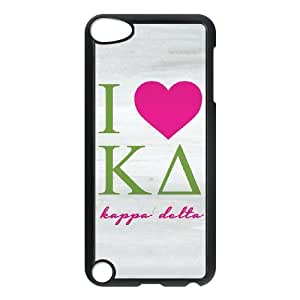 iPod Touch 5 Case Black I Love Kappa Delta Grey Cfthm