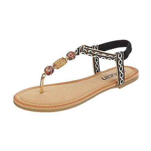 Ital-Design - Zapatos con tacón Mujer Schwarz Multi