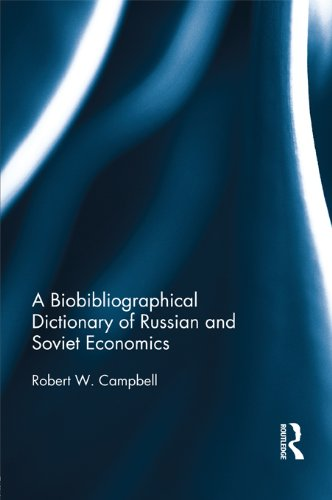 Download A Biographical Dictionary of Russian and Soviet Economists Pdf