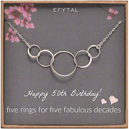 EFYTAL 50th Birthday Sterling Necklace product image