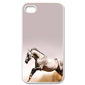iPhone 4/4S Case Running Horse, vety, [White]