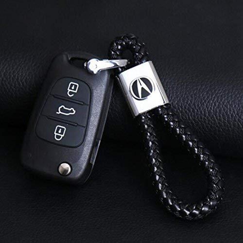 Acura Black Weave Cord Keychain