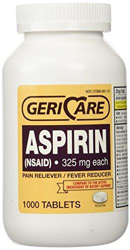 - Bottled Aspirin 1000/bottle (NSAID) 325 mg. each