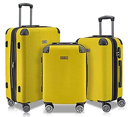 Amazon.com | Unibest Hardshell Luggage 3 Piece Set ...