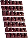 Fat Daddio's Polycarbonate 6-Square Bar Candy Mold 7-Bars Per Tray