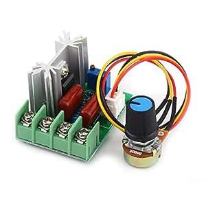 CA 50-220V 2000W SCR Regulador de voltaje eléctrico Regulador de temperatura/regulador de