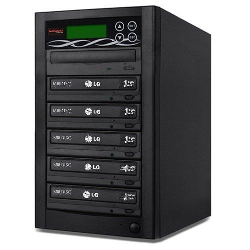 Bestduplicator BD-LG-5T 5 Target 24x SATA DVD Duplicator with Built-In LG Burner (1 to 5)
