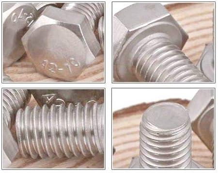 St@llion M6 HEX SET SCREW Stainless Steel A2 Hexagon Bolts Threaded Bolt Head DIN 933