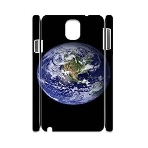 3D Blue Earth 02 Samsung Galaxy Note 3 Case, Girls Case Samsung Galaxy Note 3 Cases for Women Funny Saying {White} by runtopwell