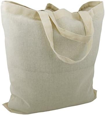Bolsas de algodón, de yute, con dos asas cortas, color natural, 38 x 42 cm, 25 unidades: Amazon.es: Equipaje