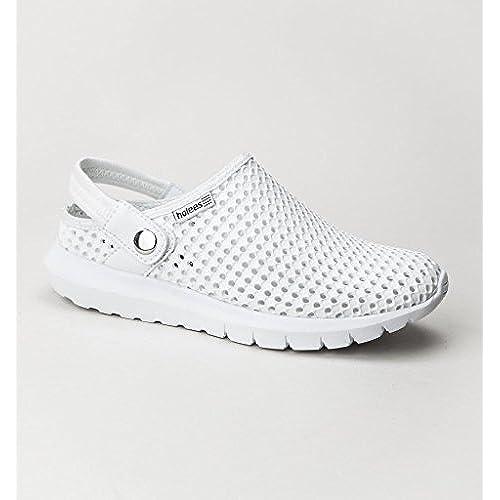 Holees Strappy Chaussures Femme Eté Confort Avec Bride Arrière - Sabot (Blanc)