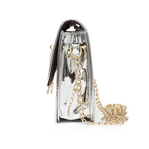 Shoulder Bag Bags Small Messenger SOMESUN Leather Laser Fashion Women Deer Body Shoulder Bag Cross Silver Crossbody Bag 7wxq6RZ