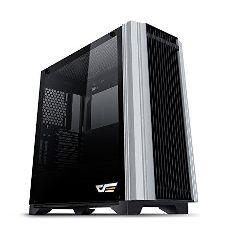 darkFlash Darwin Black ATX Mid-Tower Desktop Computer Gaming Case USB 3.0 Ports Tempered Glass Windows