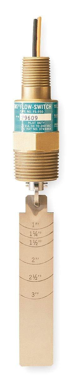 Gems Sensors 1 MNPT Paddle Liquid Flow Switch, 15 to 48 gpm - FS-550 29609 by Gems Sensors (Image #1)