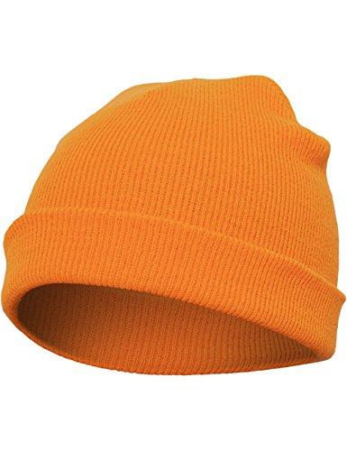 Flexfit Heavyweight–Gorro de Punto Verde Spruce Talla:Talla única Naranja - naranja