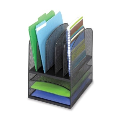 Safco 8 Compartment Mesh (SAF3266BL - Safco Onyx Mesh Desk Organizer)