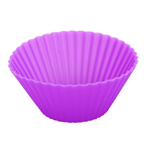Xinzistar 12 Pcs Silicone Baking Muffin Cup Reusable Cupcake Liners Molds Random Colors