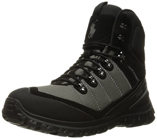 Polo Ralph Lauren Men's Hillingdon Boot, Black/Charcoal Grey, 14 D - Polo Boots.com