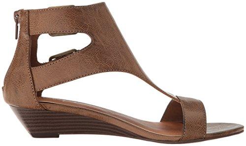 Demi Open Dark Wedge T Womens Dist Wigout Womens' Wigout Toe Buckle bar Brown Sandal Sugar IC8qwH7