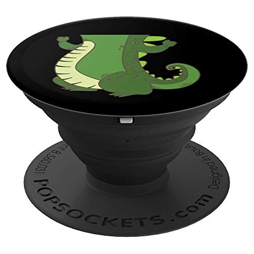 Halloween Crocodile Costume Art | Cool Croc Body Lazy Gift - PopSockets Grip and Stand for Phones and Tablets ()